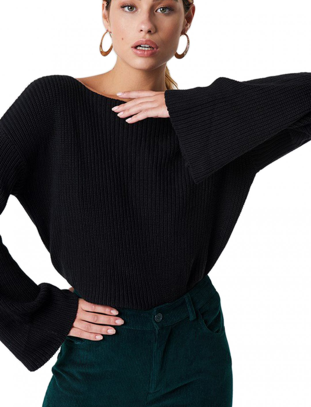 "Cropped Knitted Sweater {""id"":5,""product_section_id"":1,""name"":""Clothing"",""order"":5} NA-KD"