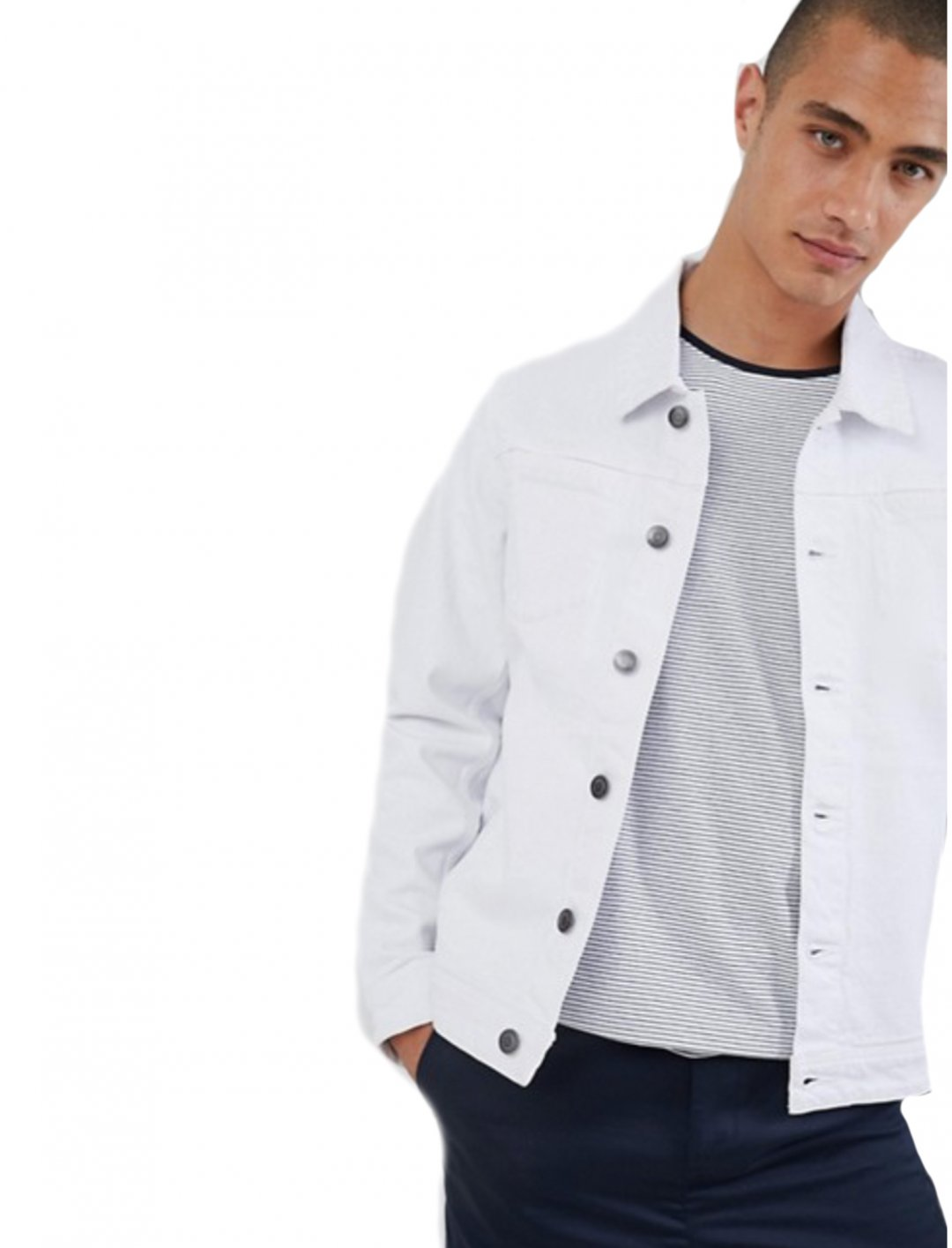 "Denim Jacket In White {""id"":5,""product_section_id"":1,""name"":""Clothing"",""order"":5} Lindbergh"