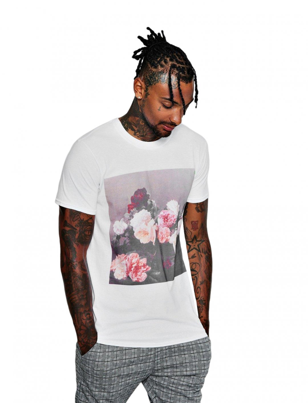 "Flower Photo Print T-Shirt {""id"":5,""product_section_id"":1,""name"":""Clothing"",""order"":5} boohoo"