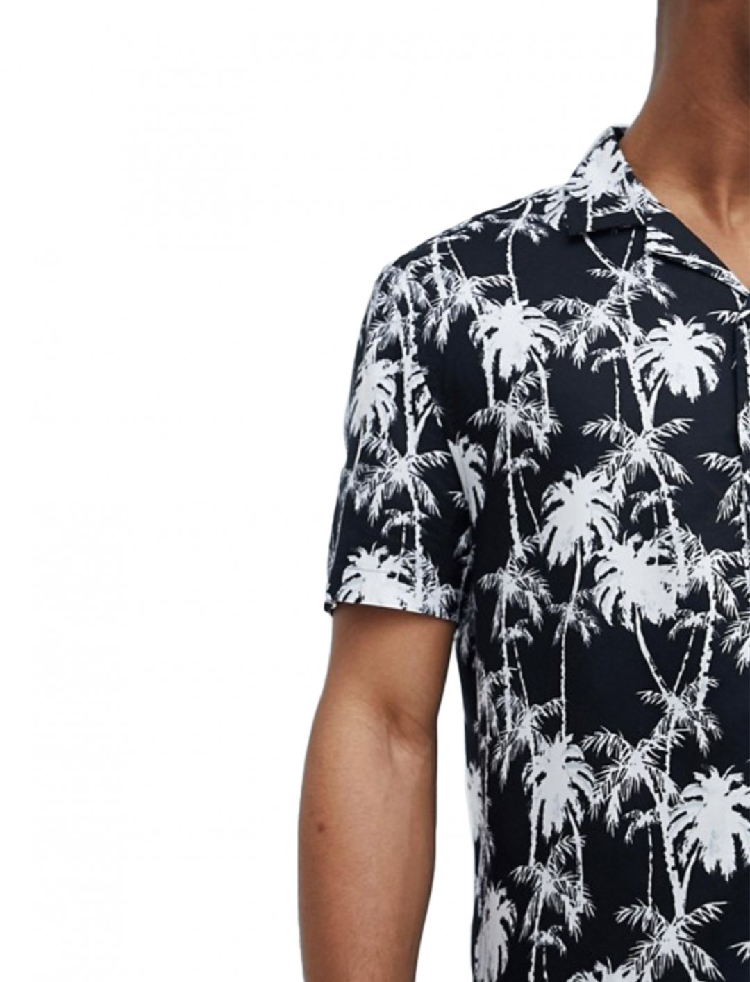 "Hawaiian Palm Print Shirt {""id"":5,""product_section_id"":1,""name"":""Clothing"",""order"":5} ASOS DESIGN"