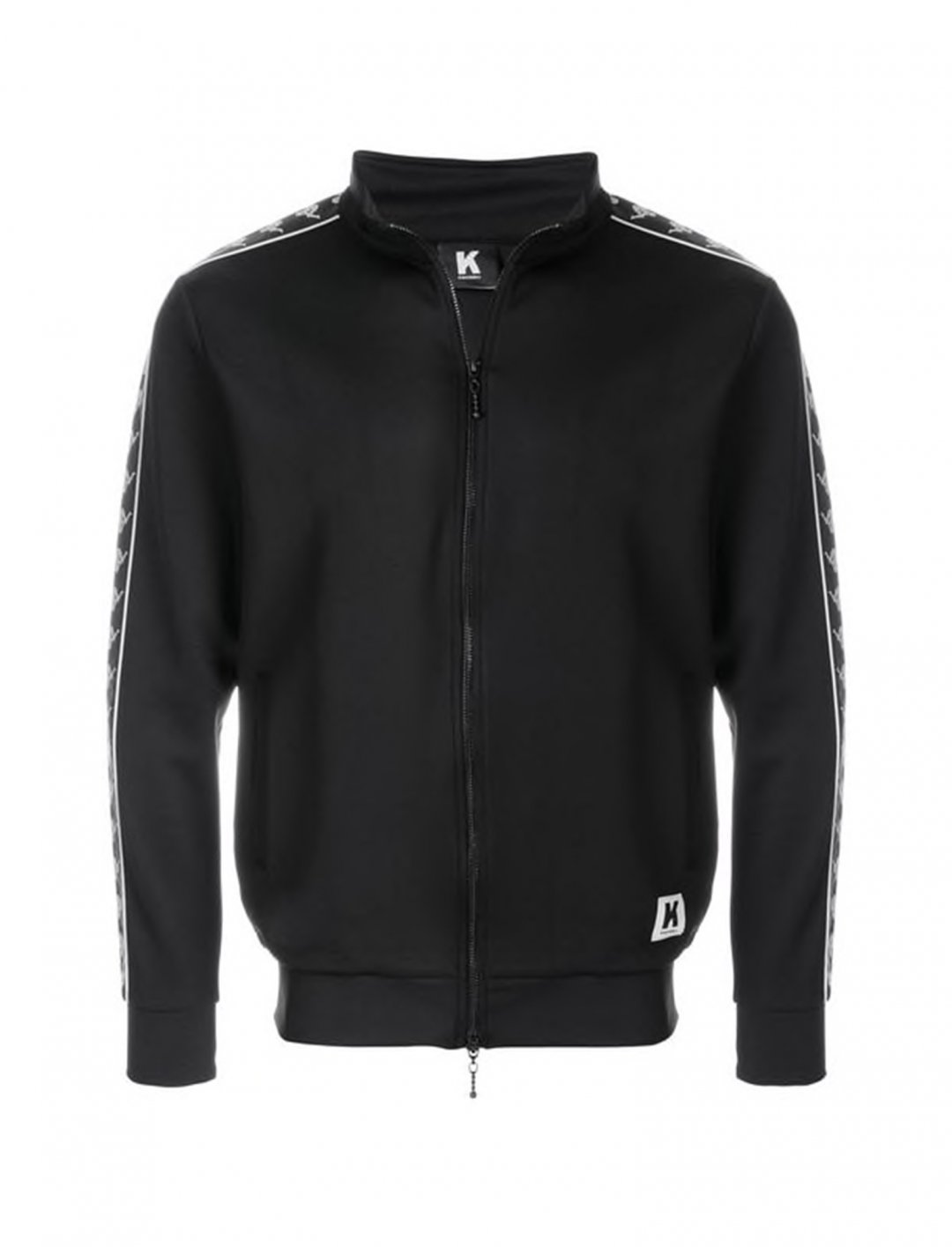 "Jacket In Black and White {""id"":5,""product_section_id"":1,""name"":""Clothing"",""order"":5} Kappa Kontroll"