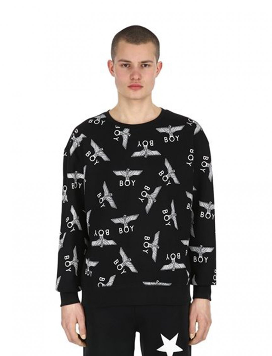 "Logo Printed Sweatshirt {""id"":5,""product_section_id"":1,""name"":""Clothing"",""order"":5} Boy London"