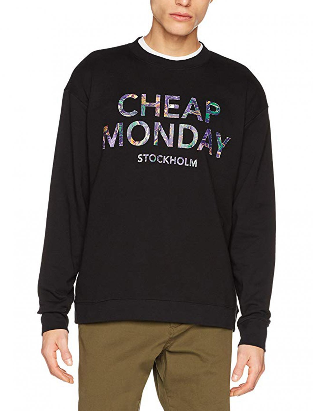 "Logo Sweatshirt In Black {""id"":5,""product_section_id"":1,""name"":""Clothing"",""order"":5} Cheap Monday"