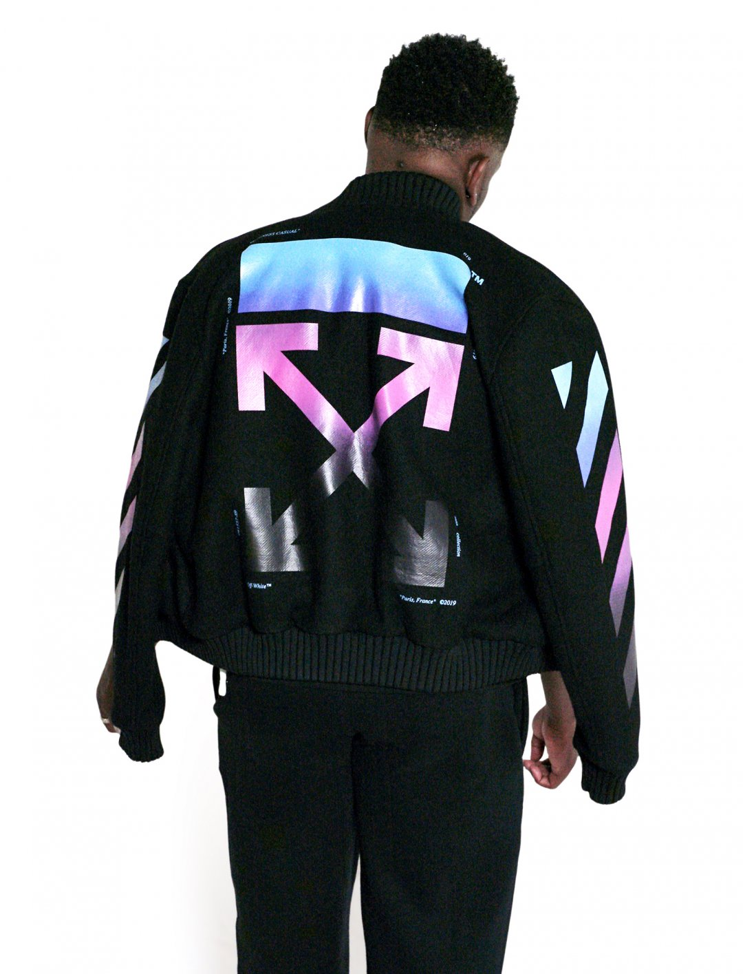 "Lotto Boyzz' Gradient Varsity Jacket {""id"":15,""product_section_id"":1,""name"":""Other"",""order"":0} Off-White"