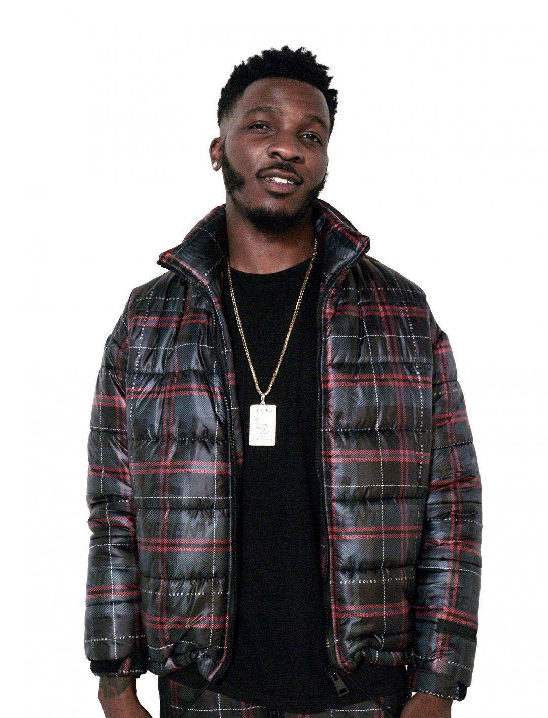 "Lotto Boyzz Jacket In Tartan {""id"":5,""product_section_id"":1,""name"":""Clothing"",""order"":5} Represent"