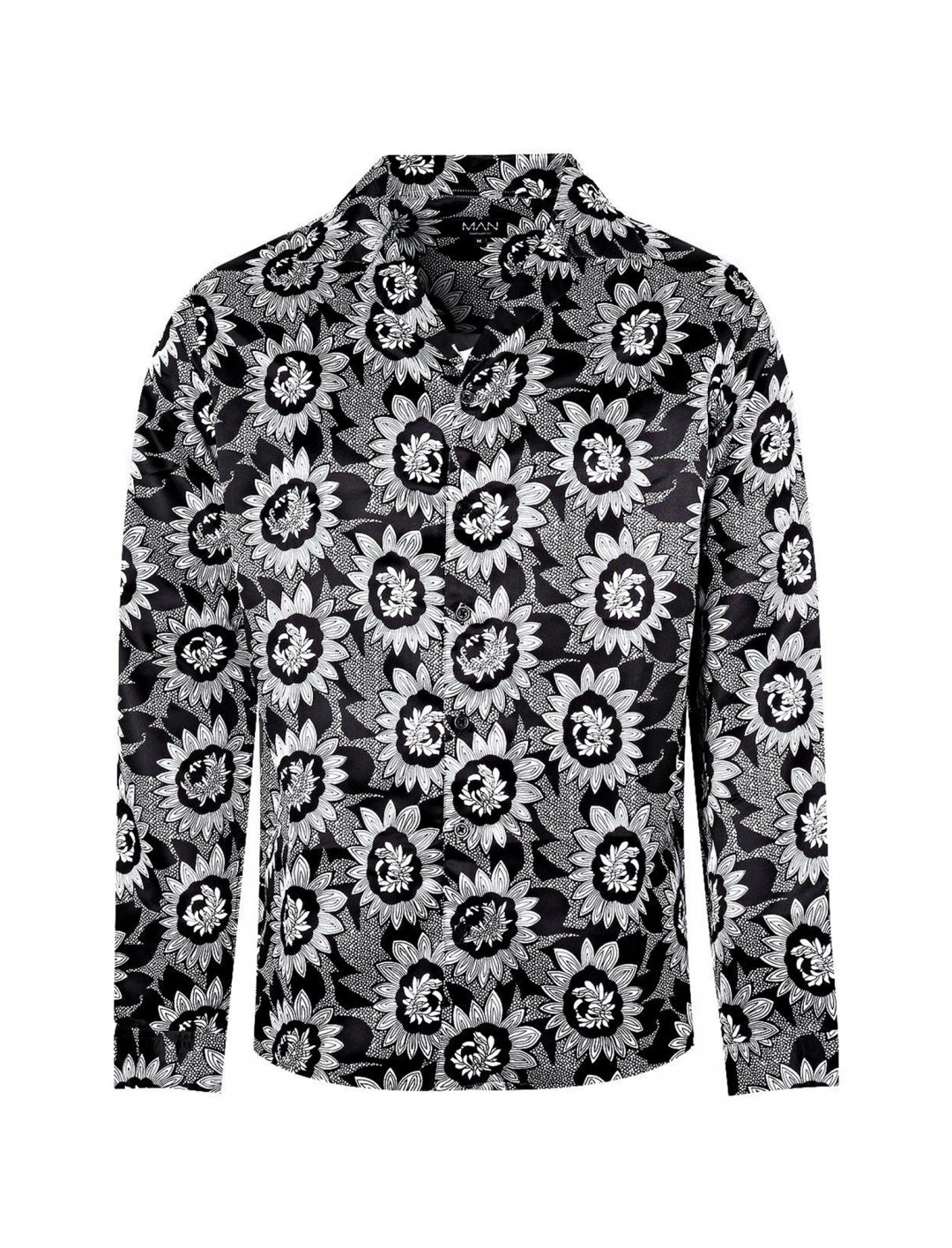 "Mono Floral Print Shirt {""id"":5,""product_section_id"":1,""name"":""Clothing"",""order"":5} boohoo"