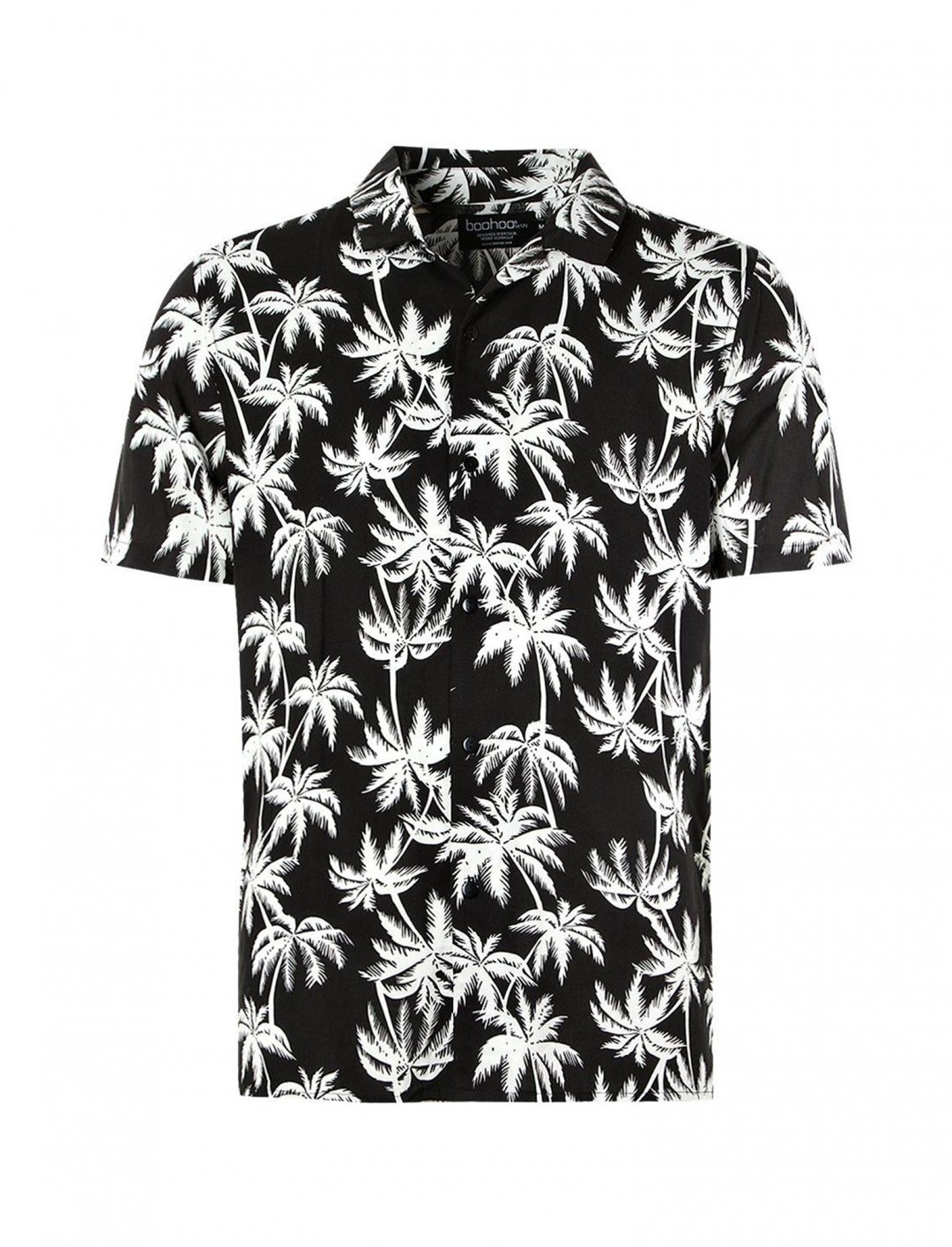 "Palm Print Shirt {""id"":5,""product_section_id"":1,""name"":""Clothing"",""order"":5} boohoo"