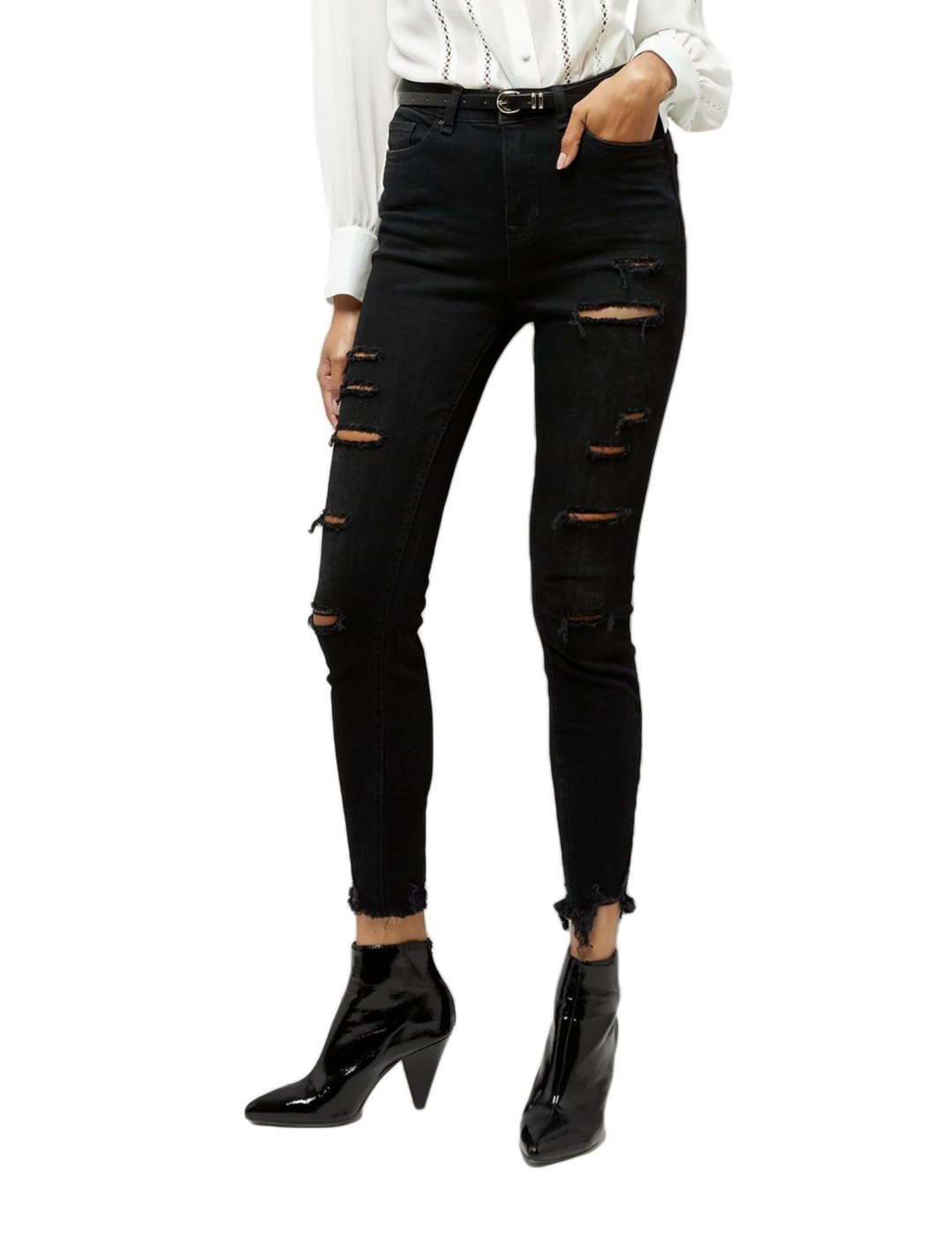 "Ripped Jeans In Black {""id"":5,""product_section_id"":1,""name"":""Clothing"",""order"":5} New Look"