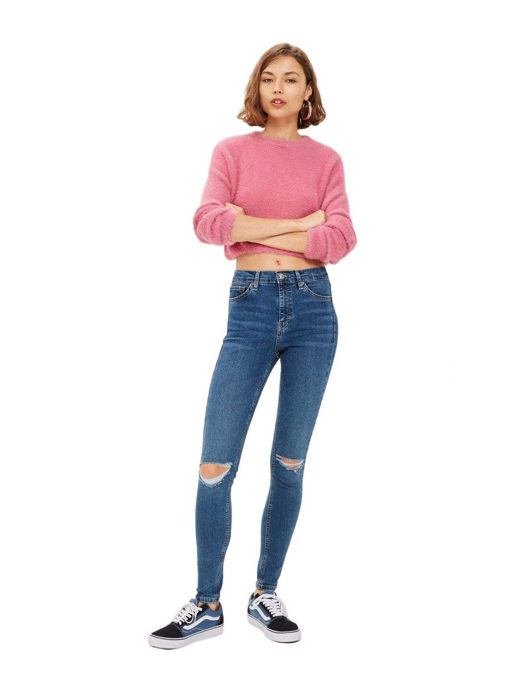 "Ripped Jeans In Mid Blue {""id"":5,""product_section_id"":1,""name"":""Clothing"",""order"":5} Topshop"