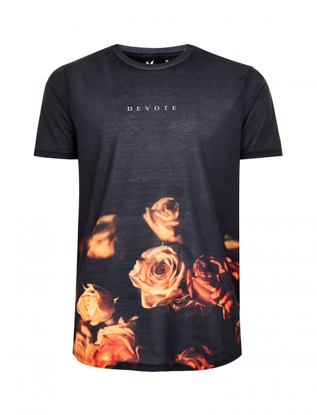 "Roses Print T-Shirt {""id"":5,""product_section_id"":1,""name"":""Clothing"",""order"":5} DEVOTE"