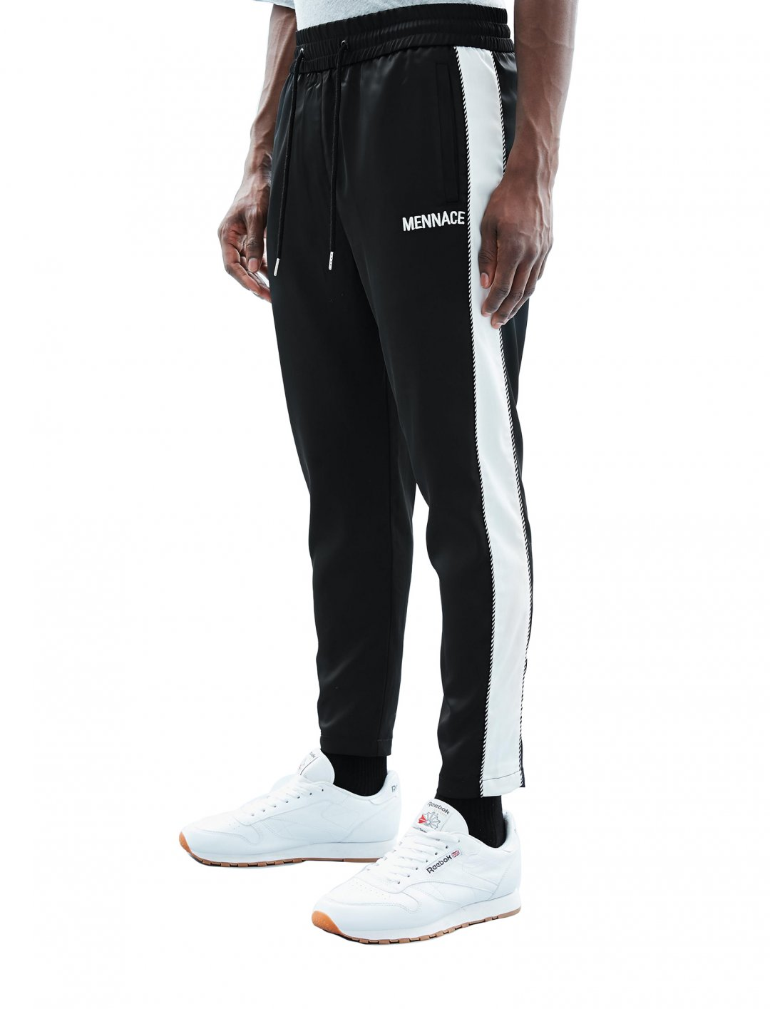 "Sateen Track Pants {""id"":5,""product_section_id"":1,""name"":""Clothing"",""order"":5} Mennace"