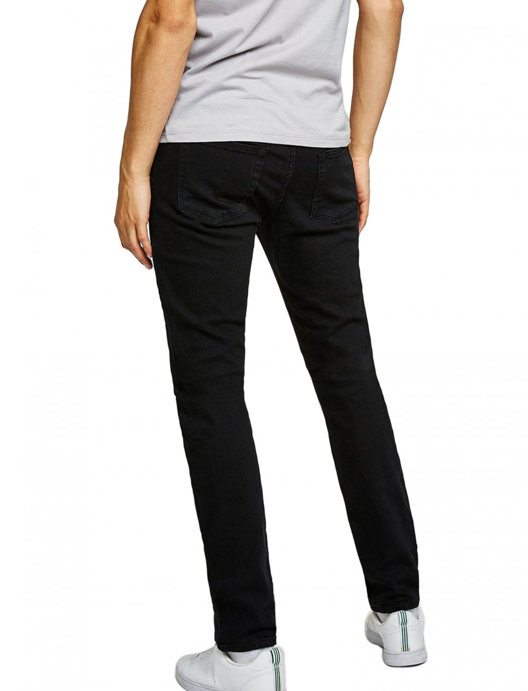 "Stretch Slim Jeans In Black {""id"":5,""product_section_id"":1,""name"":""Clothing"",""order"":5} Topman"