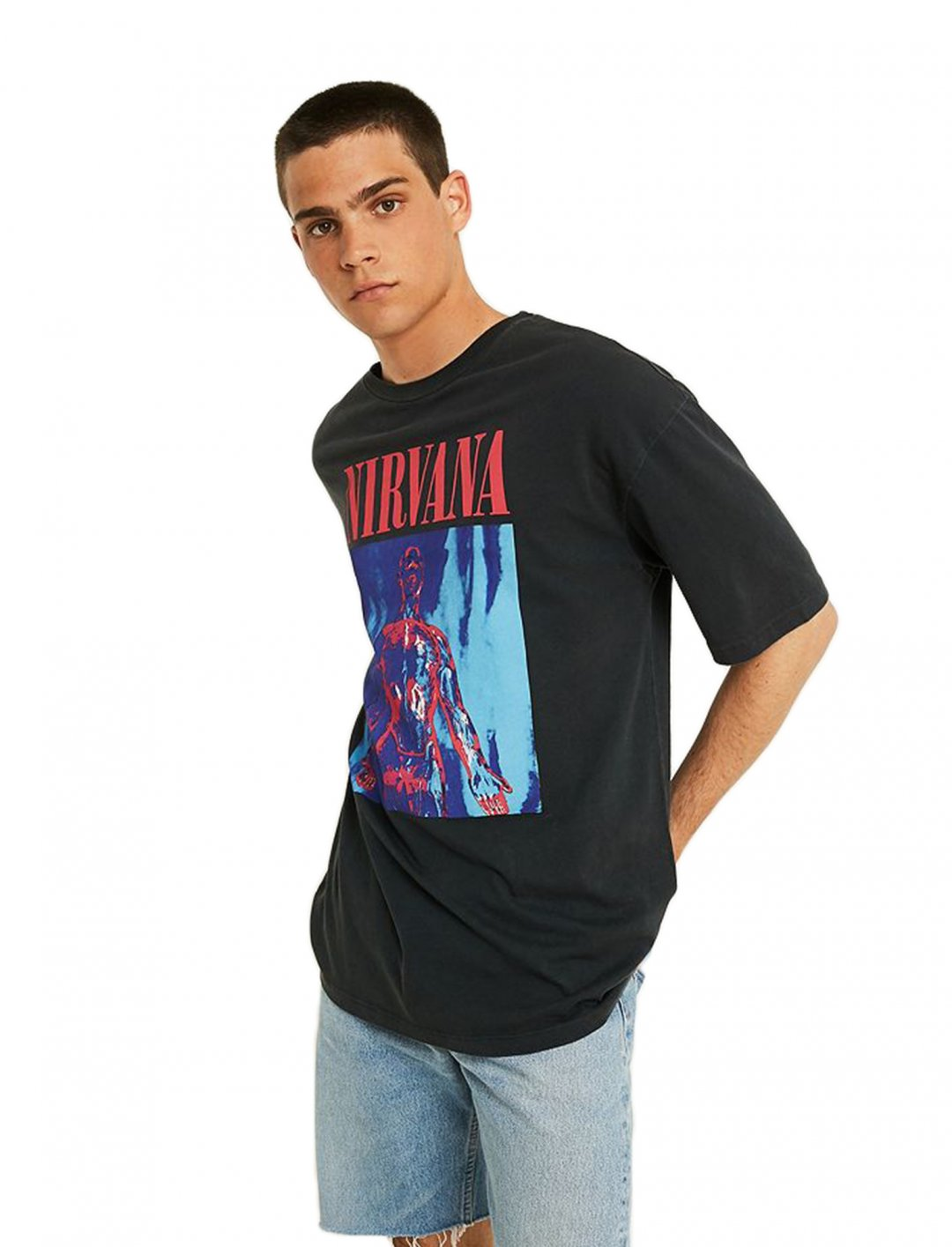 "T-Shirt In Washed Black {""id"":5,""product_section_id"":1,""name"":""Clothing"",""order"":5} UO"