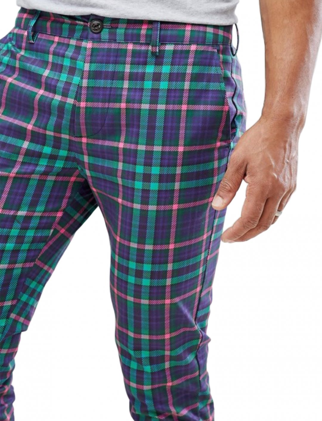 "Trousers In Bright Check {""id"":5,""product_section_id"":1,""name"":""Clothing"",""order"":5} ASOS DESIGN"