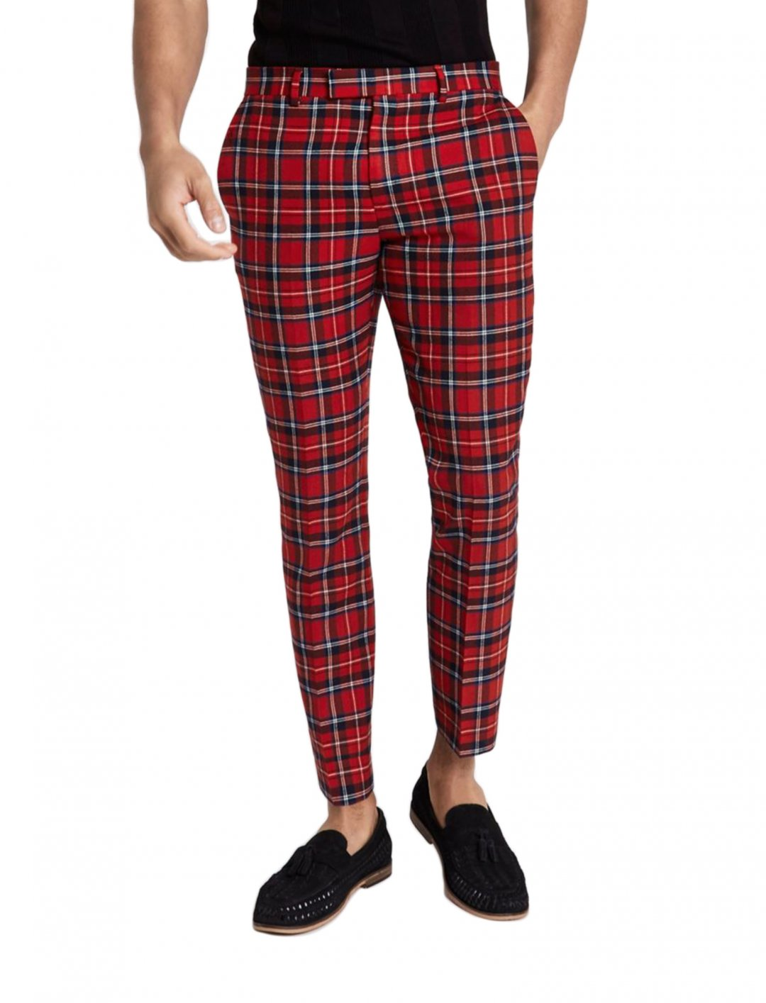 "Trousers In Red Tartan {""id"":5,""product_section_id"":1,""name"":""Clothing"",""order"":5} River Island"