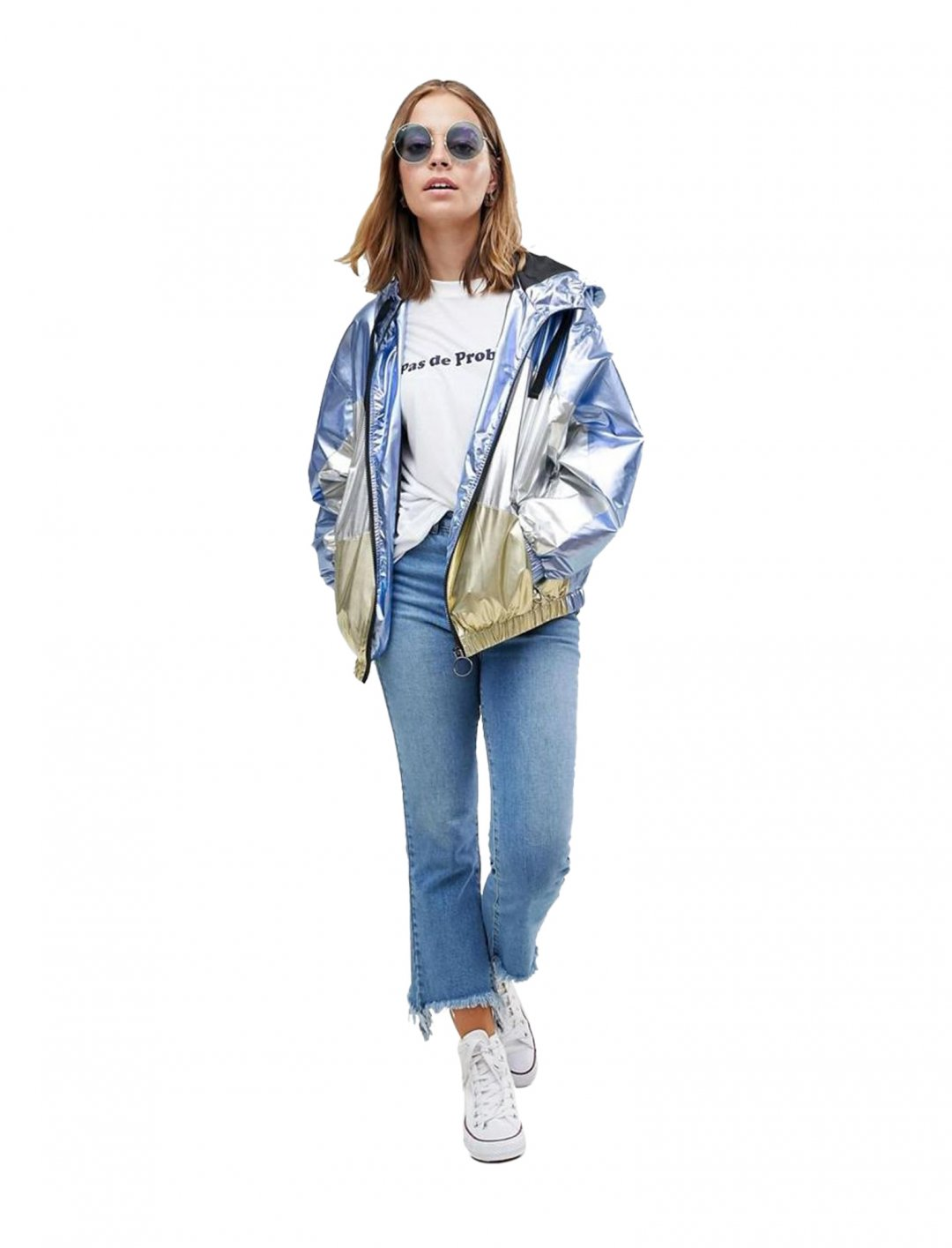 "Asos Metallic Panel Rain Jacket {""id"":5,""product_section_id"":1,""name"":""Clothing"",""order"":5} Asos"