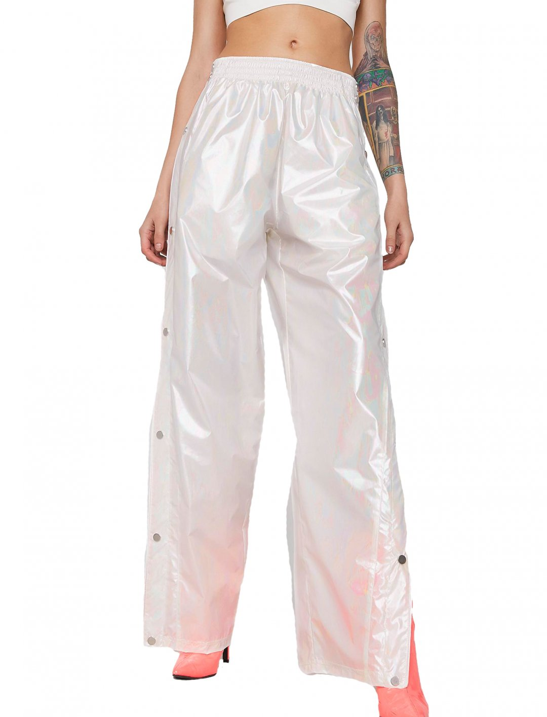 "Iridescent Track Pants {""id"":5,""product_section_id"":1,""name"":""Clothing"",""order"":5} Club Exx"