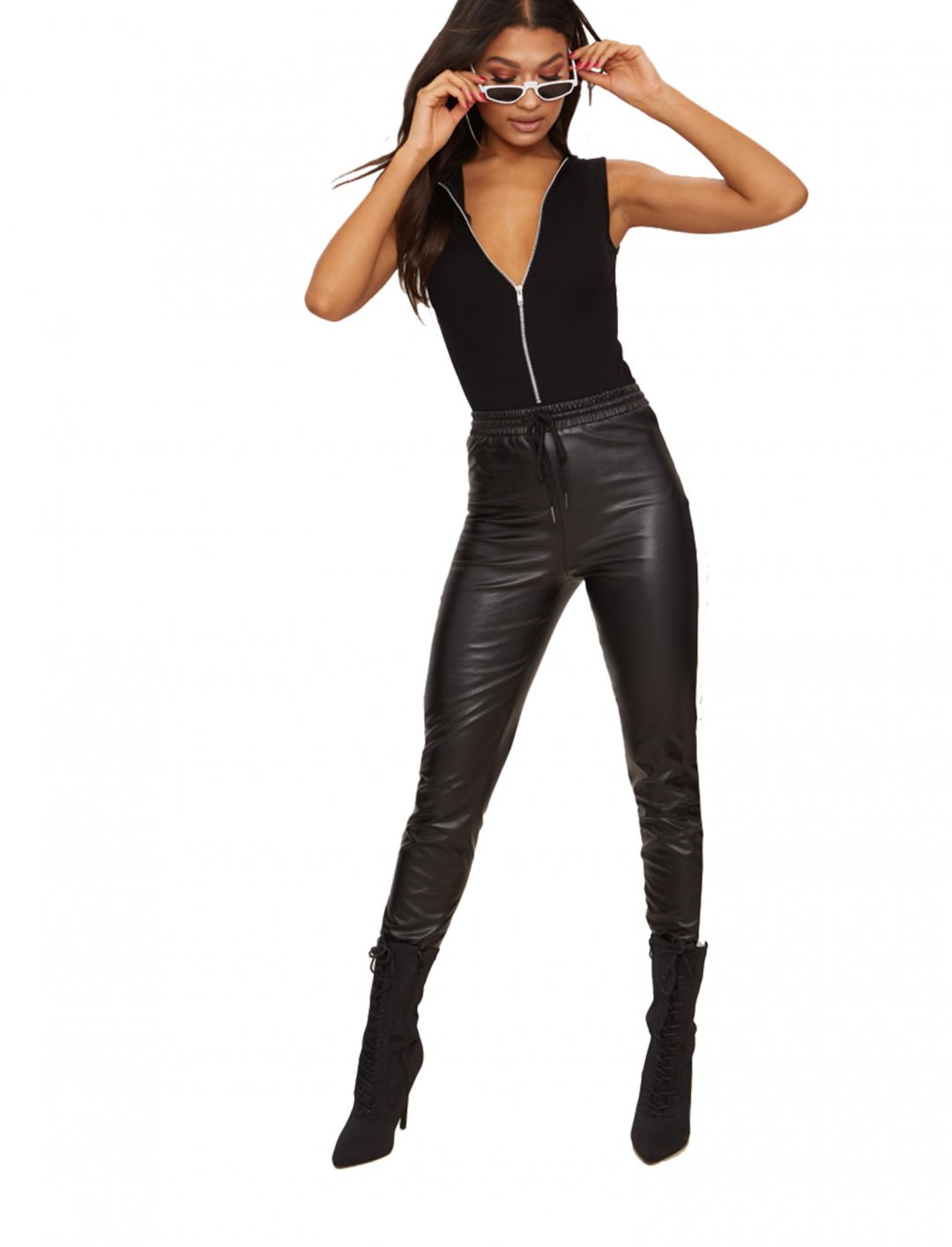 "Zip Front Thong Bodysuit {""id"":5,""product_section_id"":1,""name"":""Clothing"",""order"":5} Pretty Little Thing"