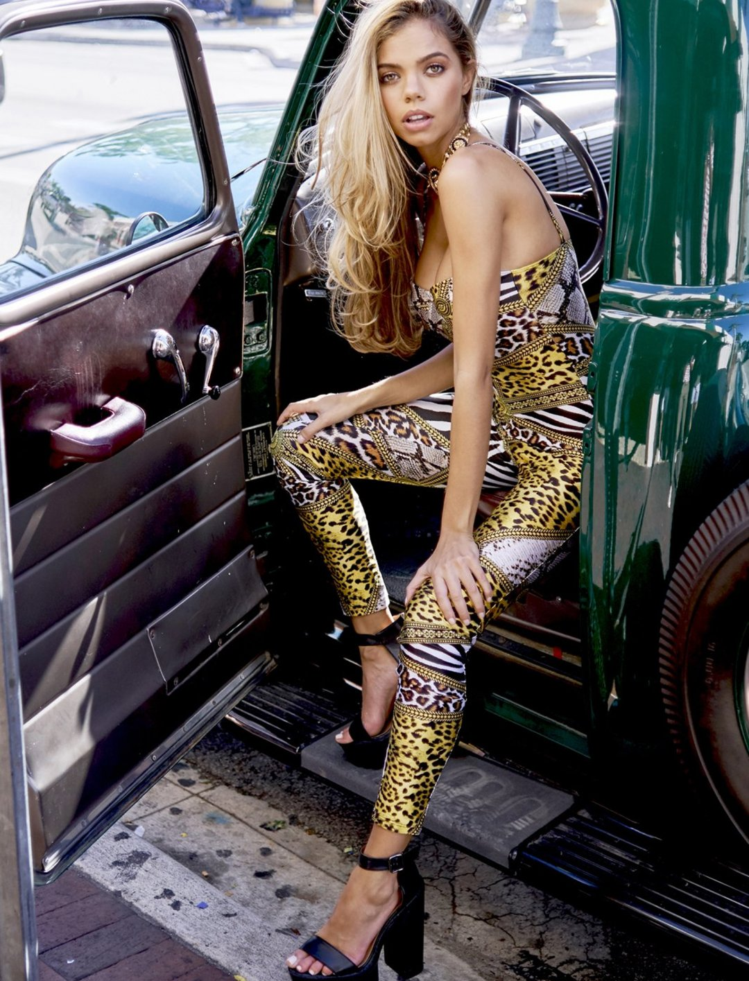 """Animal Clash Catsuit {""""id"""":5,""""product_section_id"""":1,""""name"""":""""Clothing"""",""""order"""":5} Jaded London"""