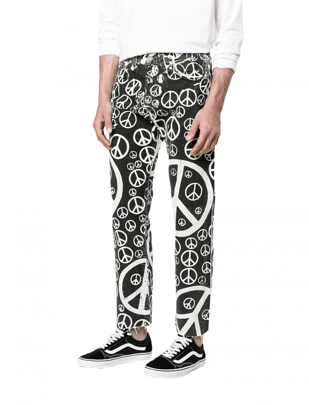 "Black Printed Jeans {""id"":5,""product_section_id"":1,""name"":""Clothing"",""order"":5} Levi's Vintage Clothing"