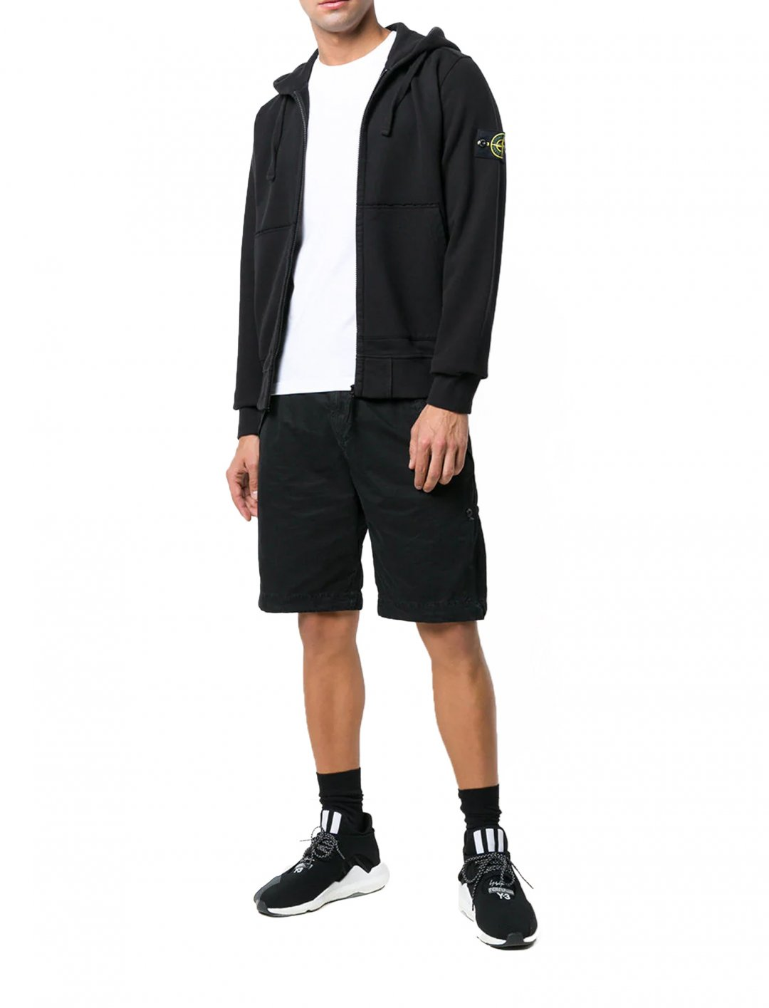 """Black V-neck Pullover {""""id"""":5,""""product_section_id"""":1,""""name"""":""""Clothing"""",""""order"""":5} Stone Island"""
