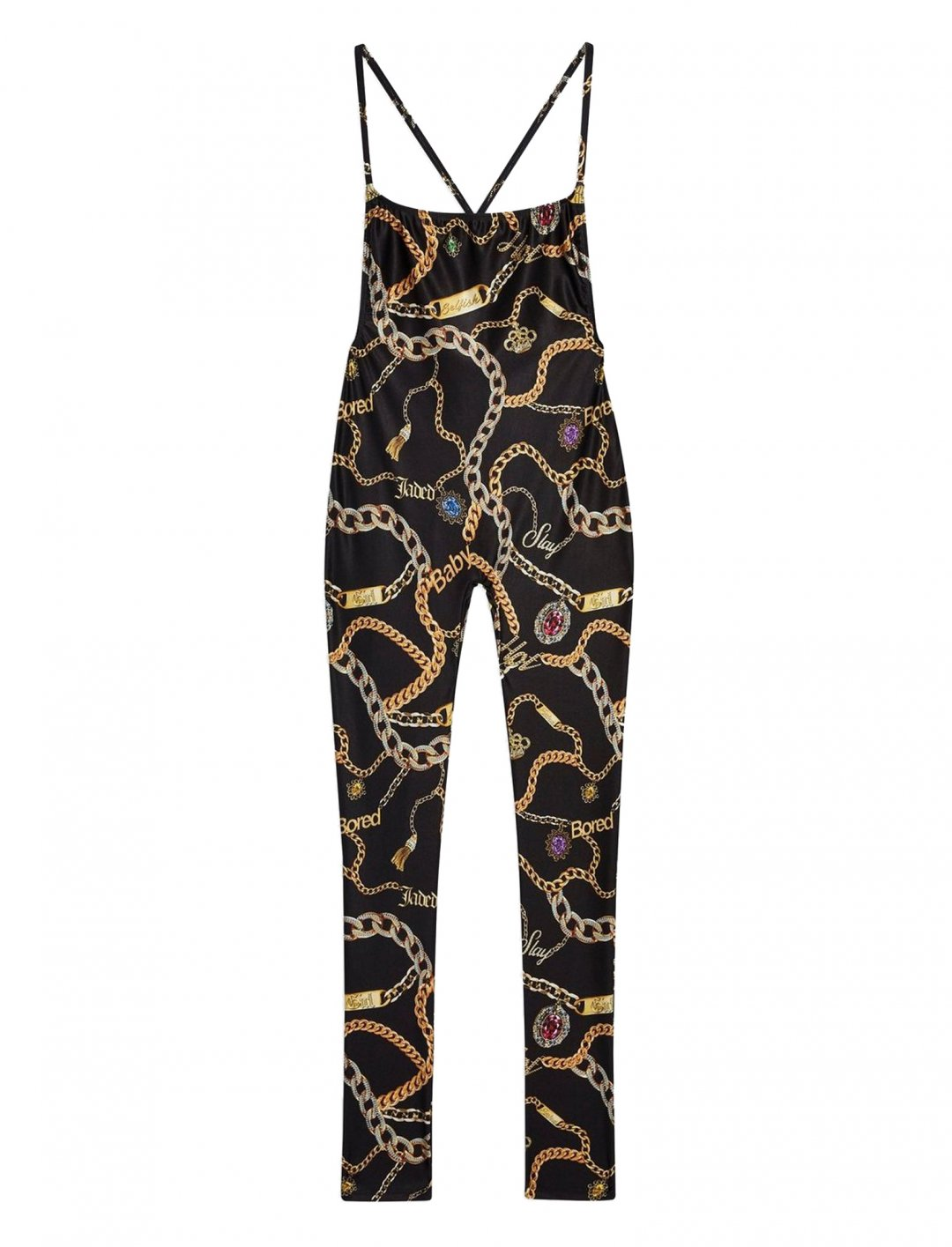 "Chain Print Catsuit {""id"":5,""product_section_id"":1,""name"":""Clothing"",""order"":5} Jaded London"