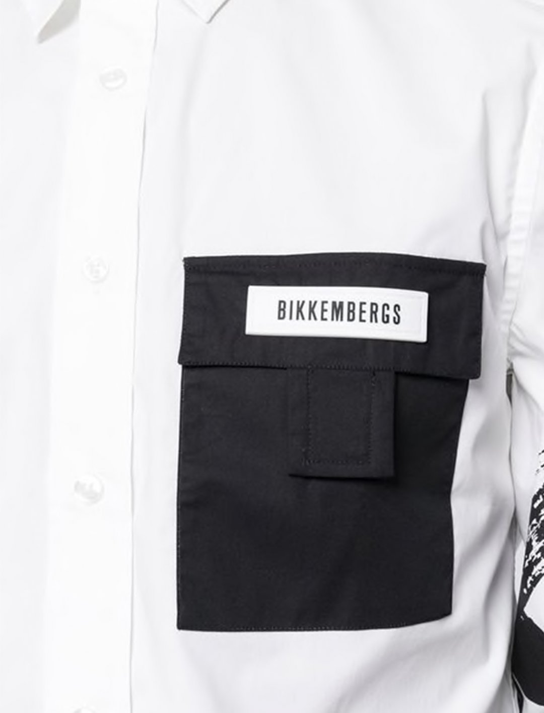 """Contrast Pocket Printed Shirt {""""id"""":5,""""product_section_id"""":1,""""name"""":""""Clothing"""",""""order"""":5} Dirk Bikkembergs"""
