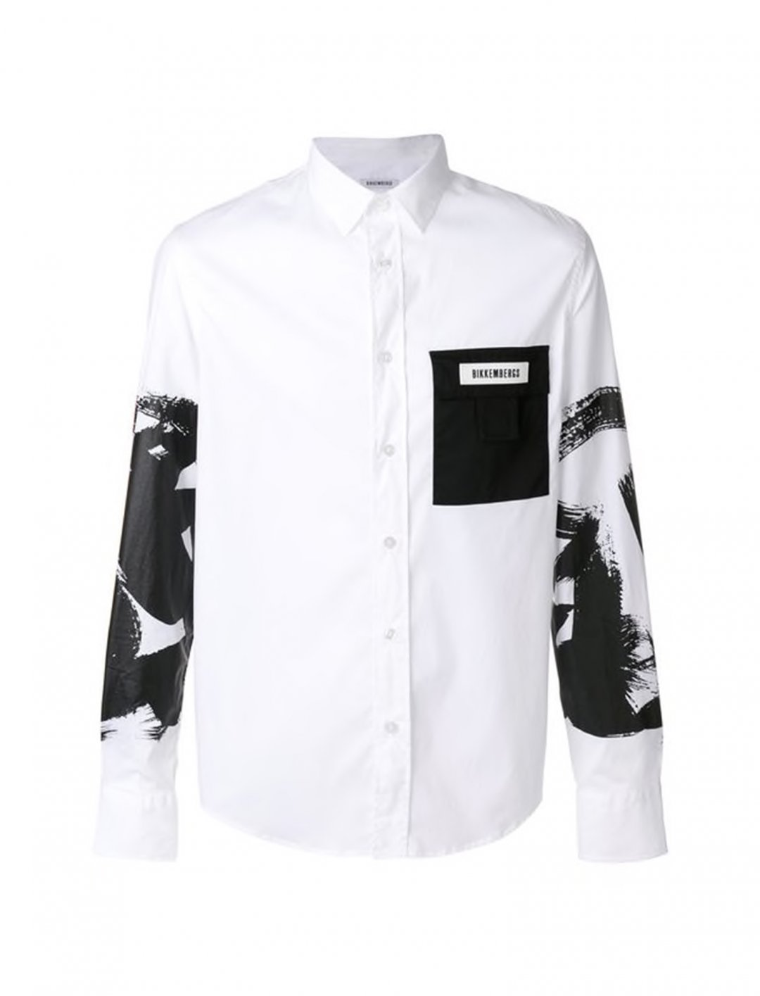 "Contrast Pocket Printed Shirt {""id"":5,""product_section_id"":1,""name"":""Clothing"",""order"":5} Dirk Bikkembergs"