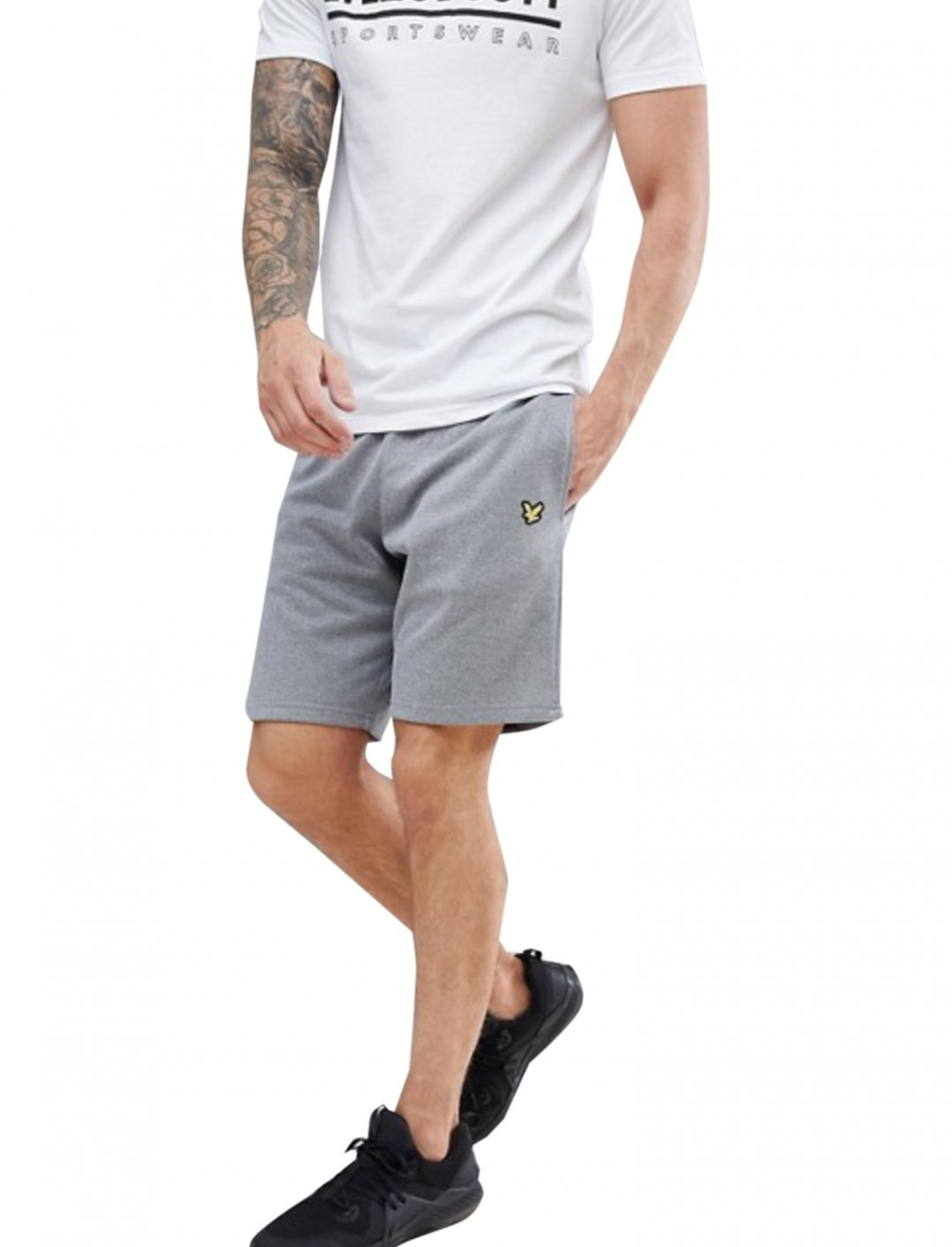 "Grey Fleece Shorts {""id"":5,""product_section_id"":1,""name"":""Clothing"",""order"":5} Lyle & Scott"