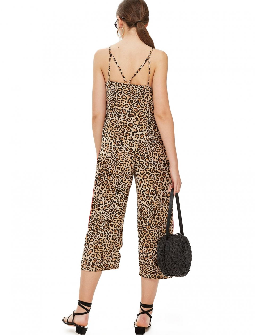 "Leopard Print Jumpsuit {""id"":5,""product_section_id"":1,""name"":""Clothing"",""order"":5} Topshop"