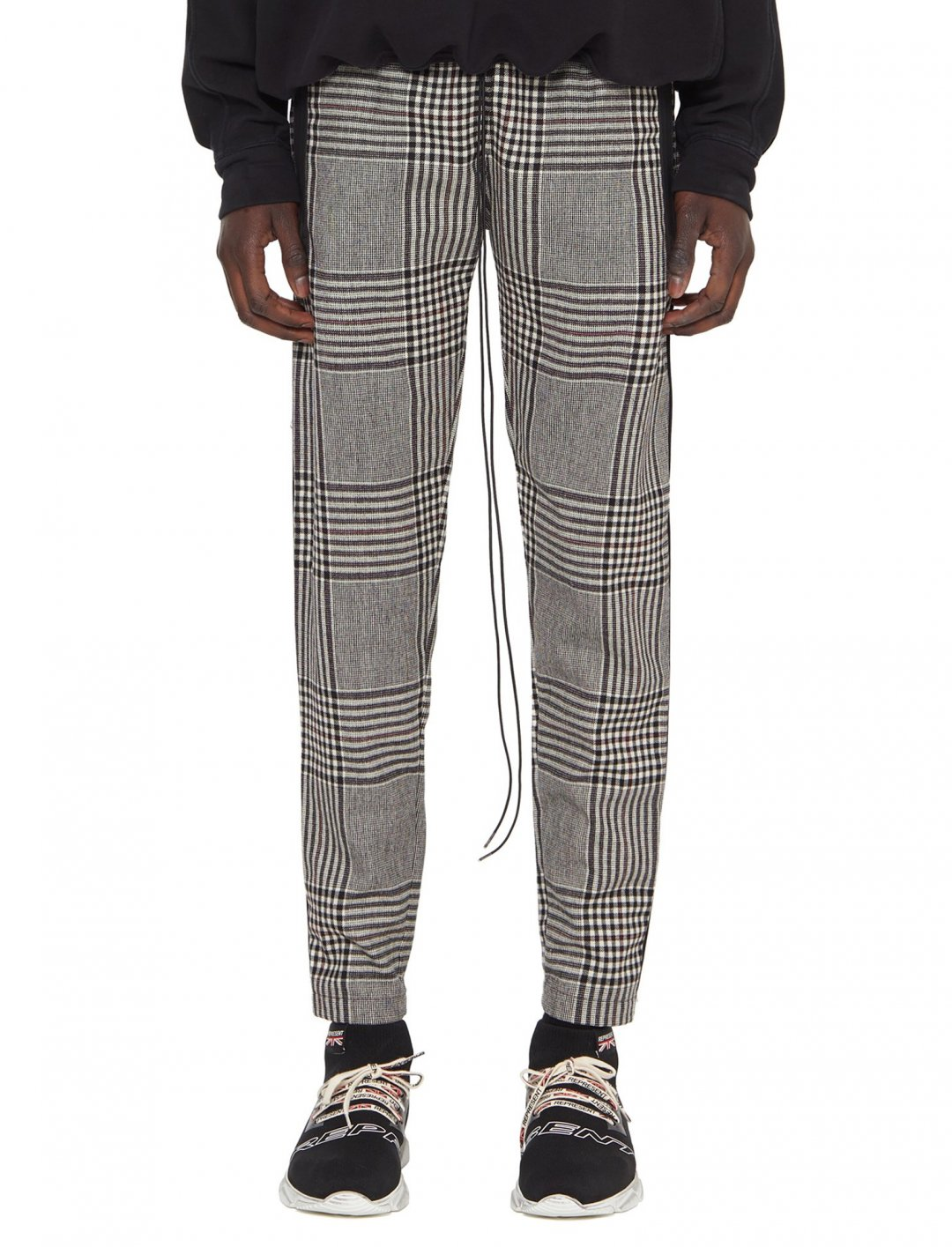 "Not3s' Large Check Track Pants {""id"":5,""product_section_id"":1,""name"":""Clothing"",""order"":5} Represent"