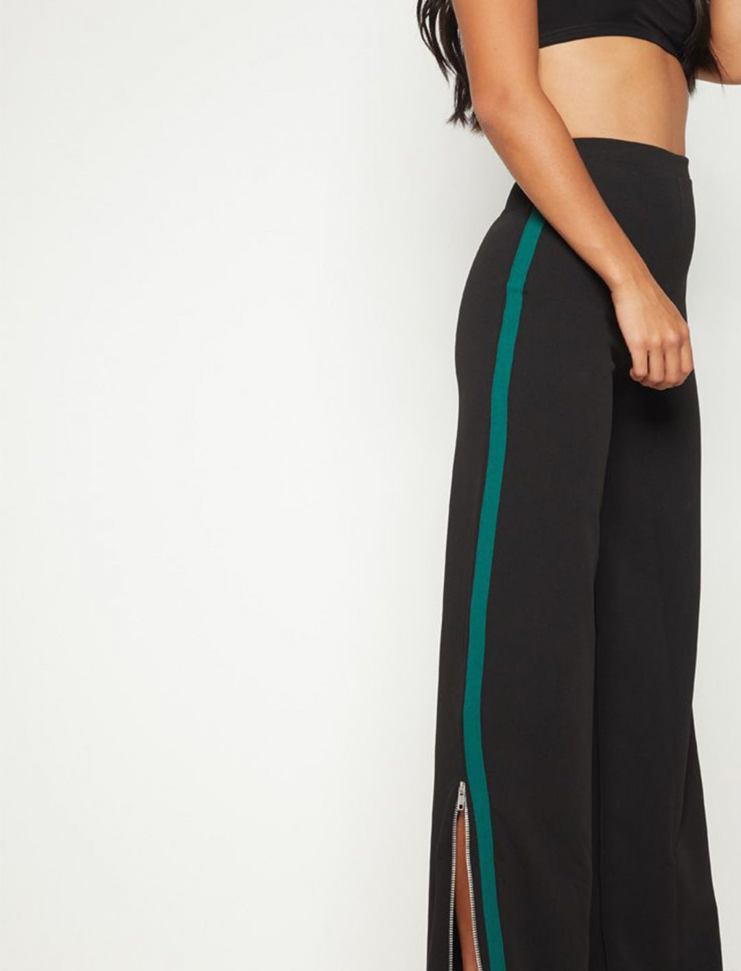 """Side Stripe Wide Leg Trousers {""""id"""":5,""""product_section_id"""":1,""""name"""":""""Clothing"""",""""order"""":5} Pretty Little Thing"""