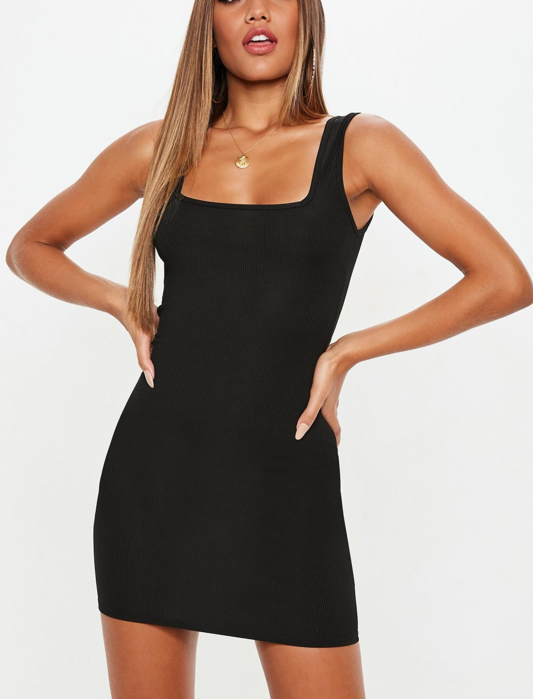 """Square Neck Dress {""""id"""":5,""""product_section_id"""":1,""""name"""":""""Clothing"""",""""order"""":5} Missguided"""