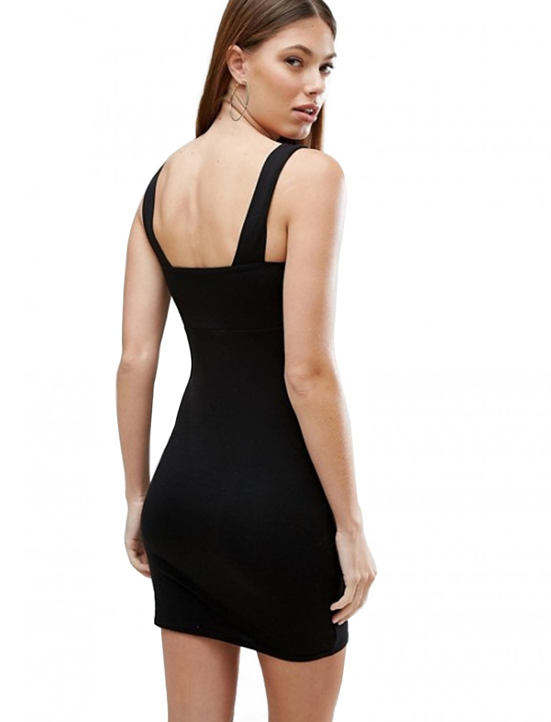"""Square Neck Mini Dress {""""id"""":5,""""product_section_id"""":1,""""name"""":""""Clothing"""",""""order"""":5} ASOS DESIGN"""