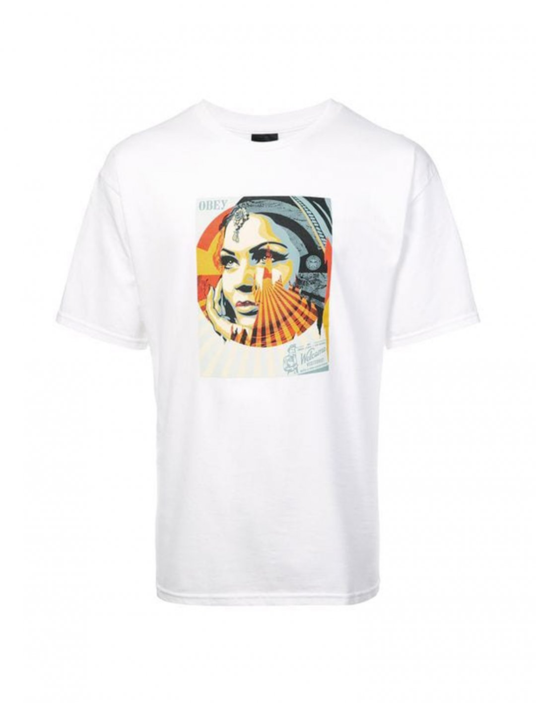 "Target Exceptions Print T-Shirt {""id"":5,""product_section_id"":1,""name"":""Clothing"",""order"":5} Obey"