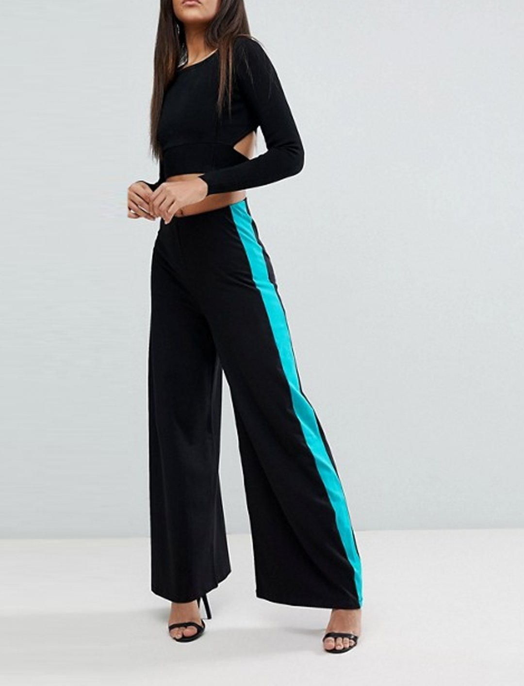 """Wide Leg Trousers With Stripe {""""id"""":5,""""product_section_id"""":1,""""name"""":""""Clothing"""",""""order"""":5} ASOS"""