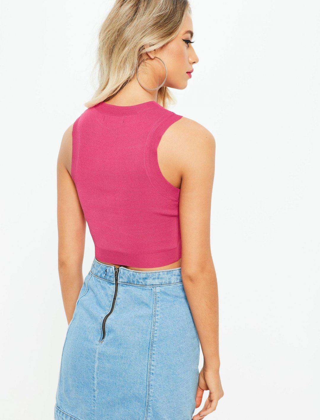 """Missguided Pink Crop Top {""""id"""":5,""""product_section_id"""":1,""""name"""":""""Clothing"""",""""order"""":5} Missguided"""