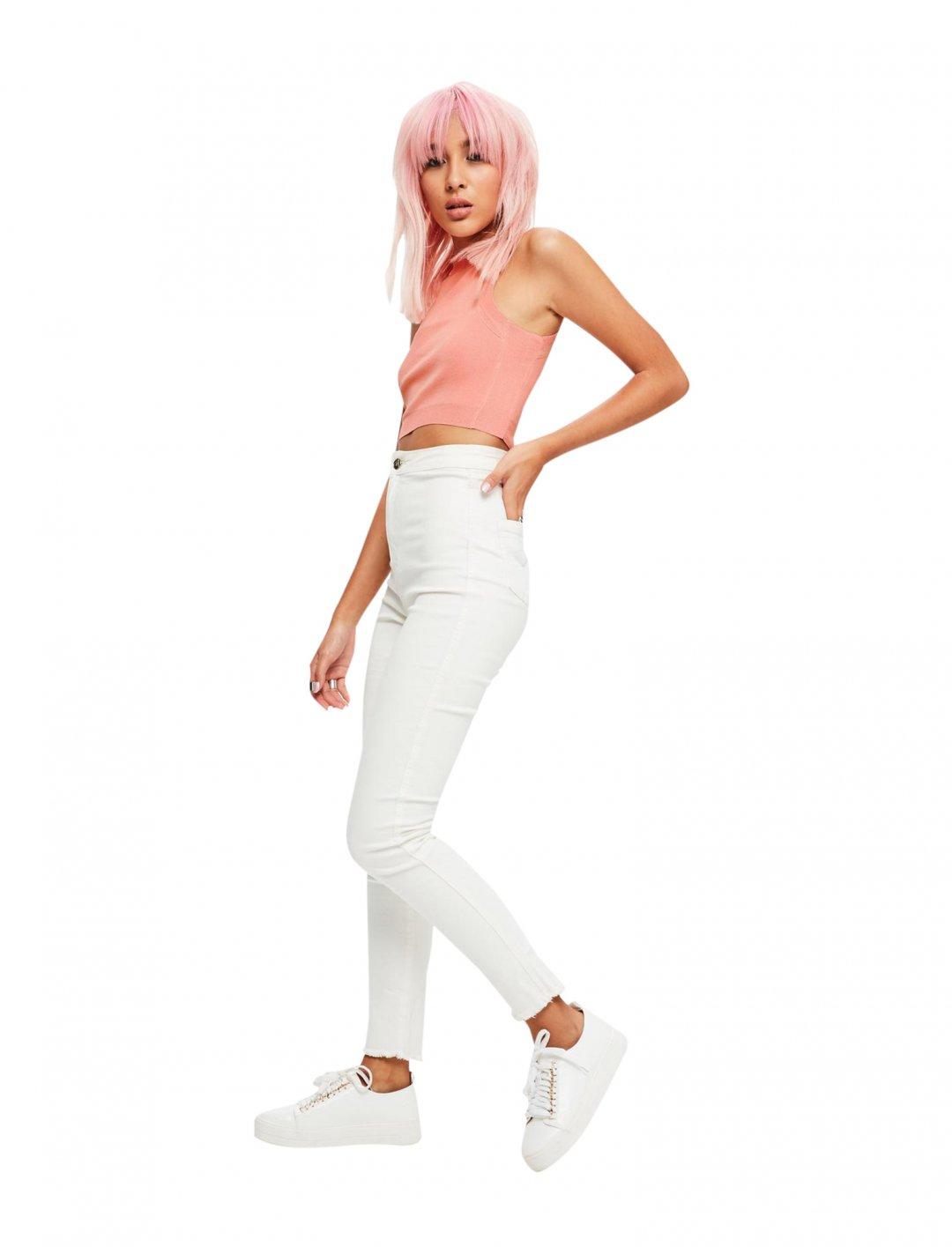 """Pink Knitted Crop Top {""""id"""":5,""""product_section_id"""":1,""""name"""":""""Clothing"""",""""order"""":5} Missguided"""