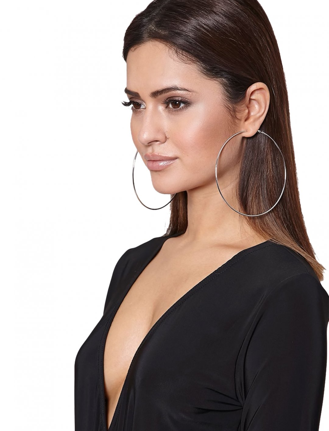 """Silver Large Hoop Earrings {""""id"""":16,""""product_section_id"""":1,""""name"""":""""Accessories"""",""""order"""":15} PLT"""