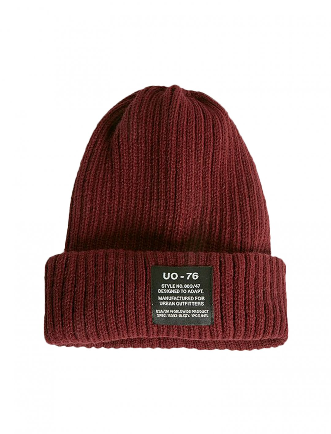 "Burgundy Ribbed Beanie {""id"":16,""product_section_id"":1,""name"":""Accessories"",""order"":15} UO"