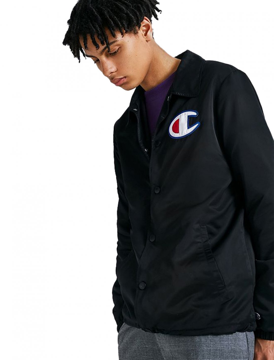 "Champion Black Coach Jacket {""id"":5,""product_section_id"":1,""name"":""Clothing"",""order"":5} Champion"