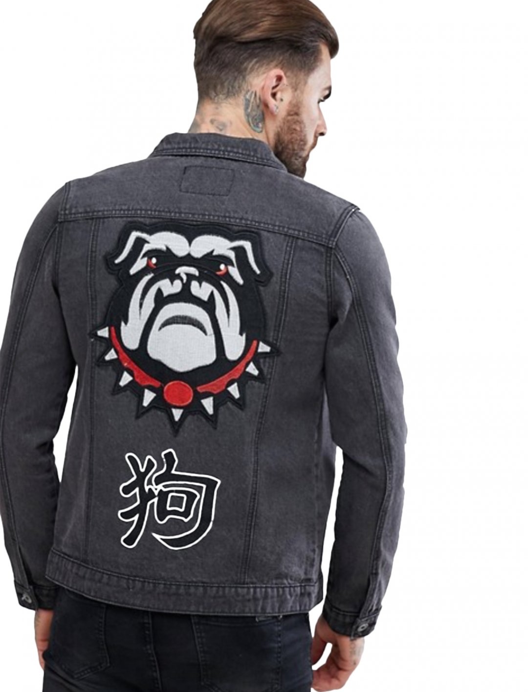 "Denim Jacket With Embroidery {""id"":5,""product_section_id"":1,""name"":""Clothing"",""order"":5} Liquor N Poker"