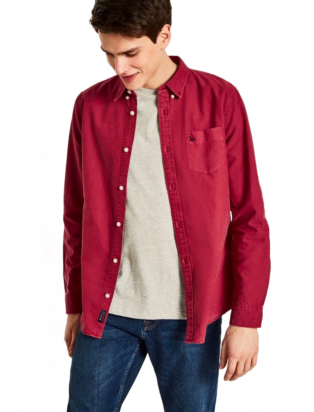 "Red Oxford Shirt {""id"":5,""product_section_id"":1,""name"":""Clothing"",""order"":5} Atley"