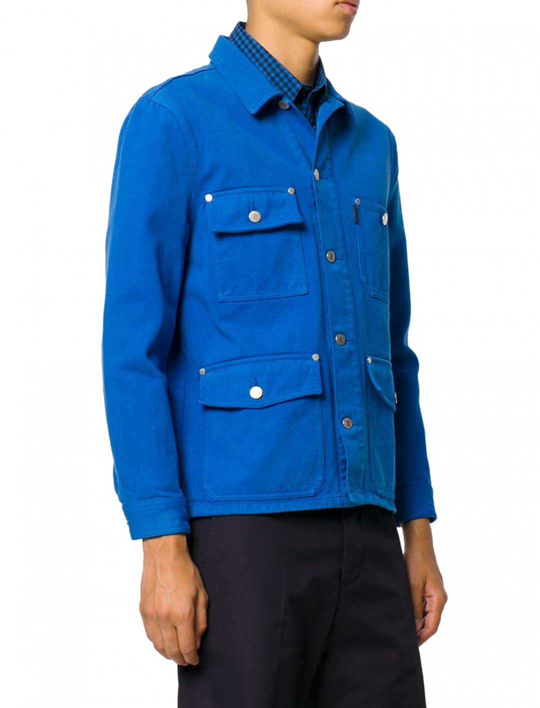 "Ruel's Worker Denim Jacket {""id"":5,""product_section_id"":1,""name"":""Clothing"",""order"":5} Ami Alexandre Mattiussi"
