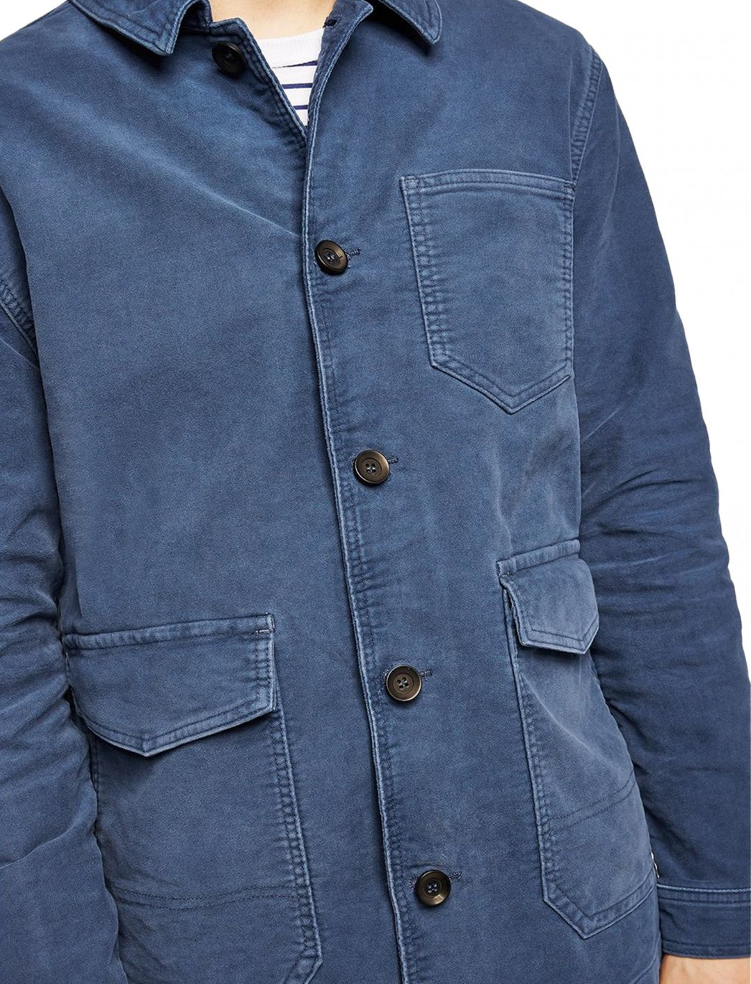 "Topman Blue Worker Jacket {""id"":5,""product_section_id"":1,""name"":""Clothing"",""order"":5} Topman"
