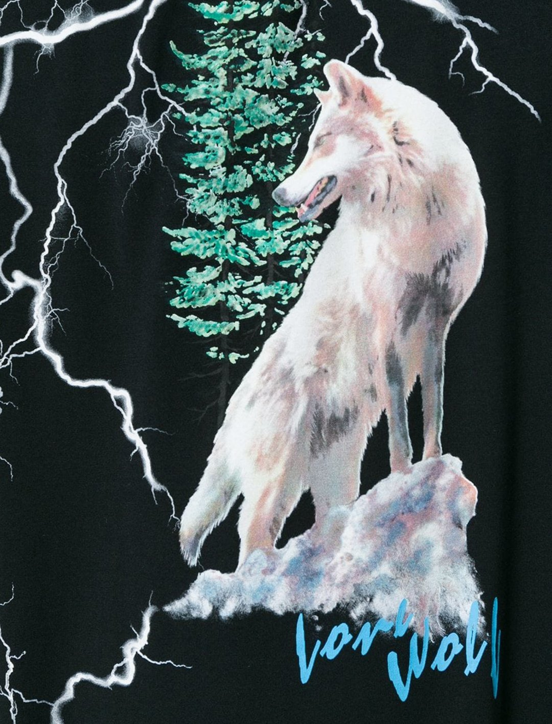 "Russ' Wolf T-Shirt {""id"":5,""product_section_id"":1,""name"":""Clothing"",""order"":5} Marcelo Burlon County of Milan"