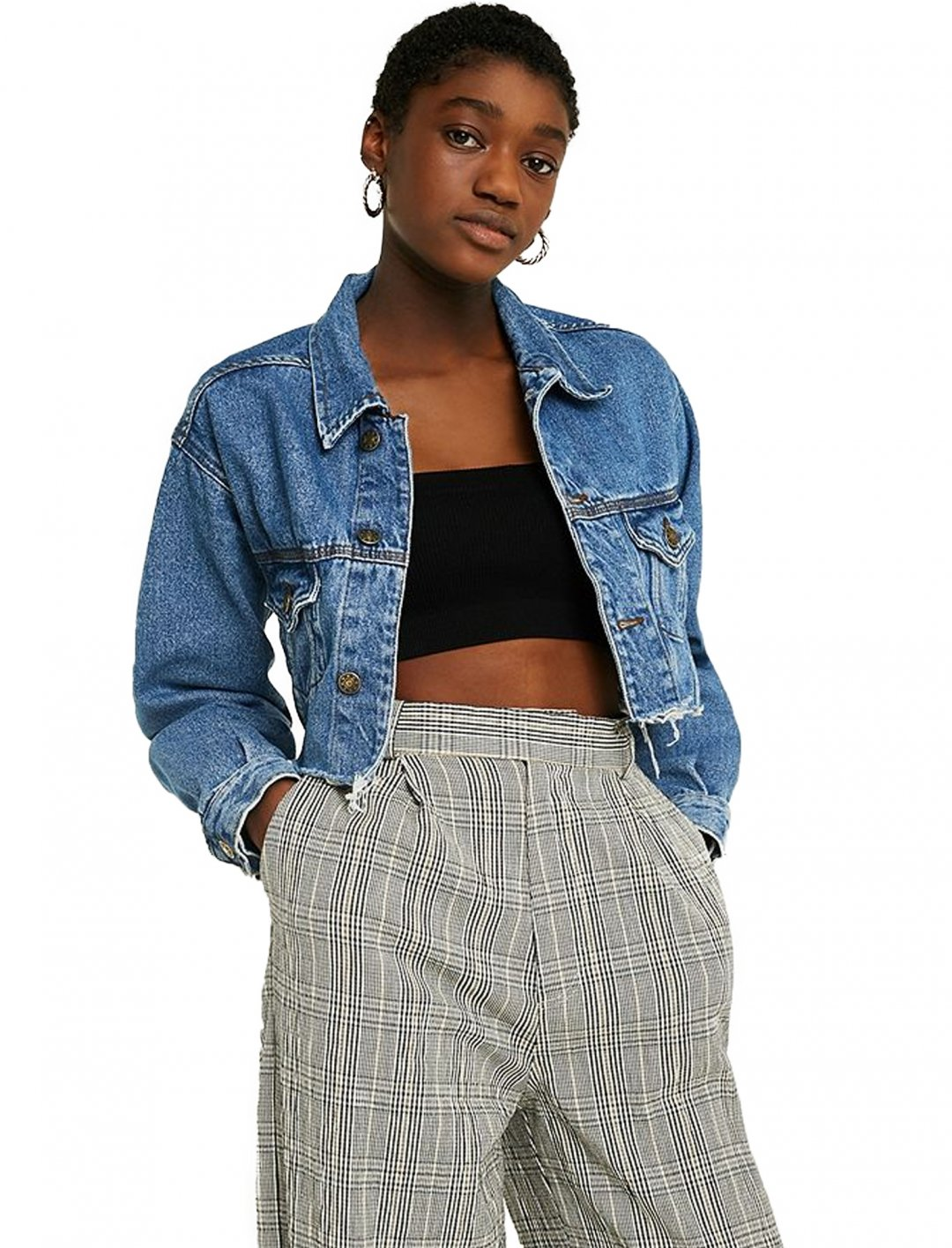 "Crop Denim Jacket {""id"":5,""product_section_id"":1,""name"":""Clothing"",""order"":5} Urban Renewal Vintage"