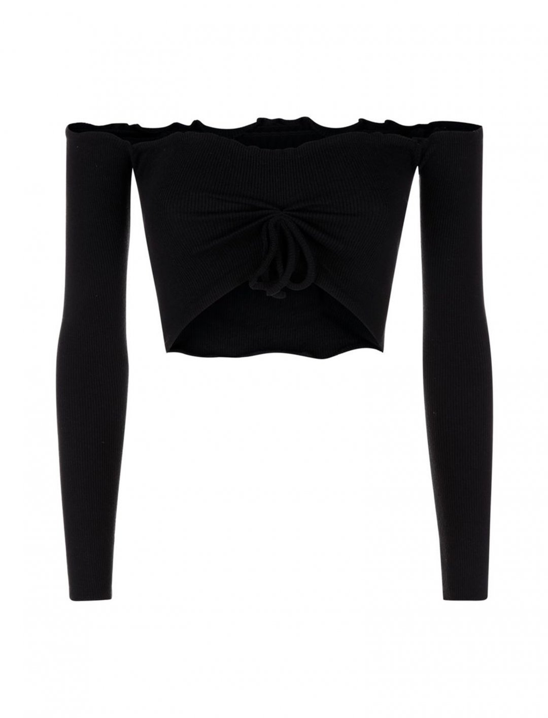 "Crop Top In Black {""id"":5,""product_section_id"":1,""name"":""Clothing"",""order"":5} New Look"