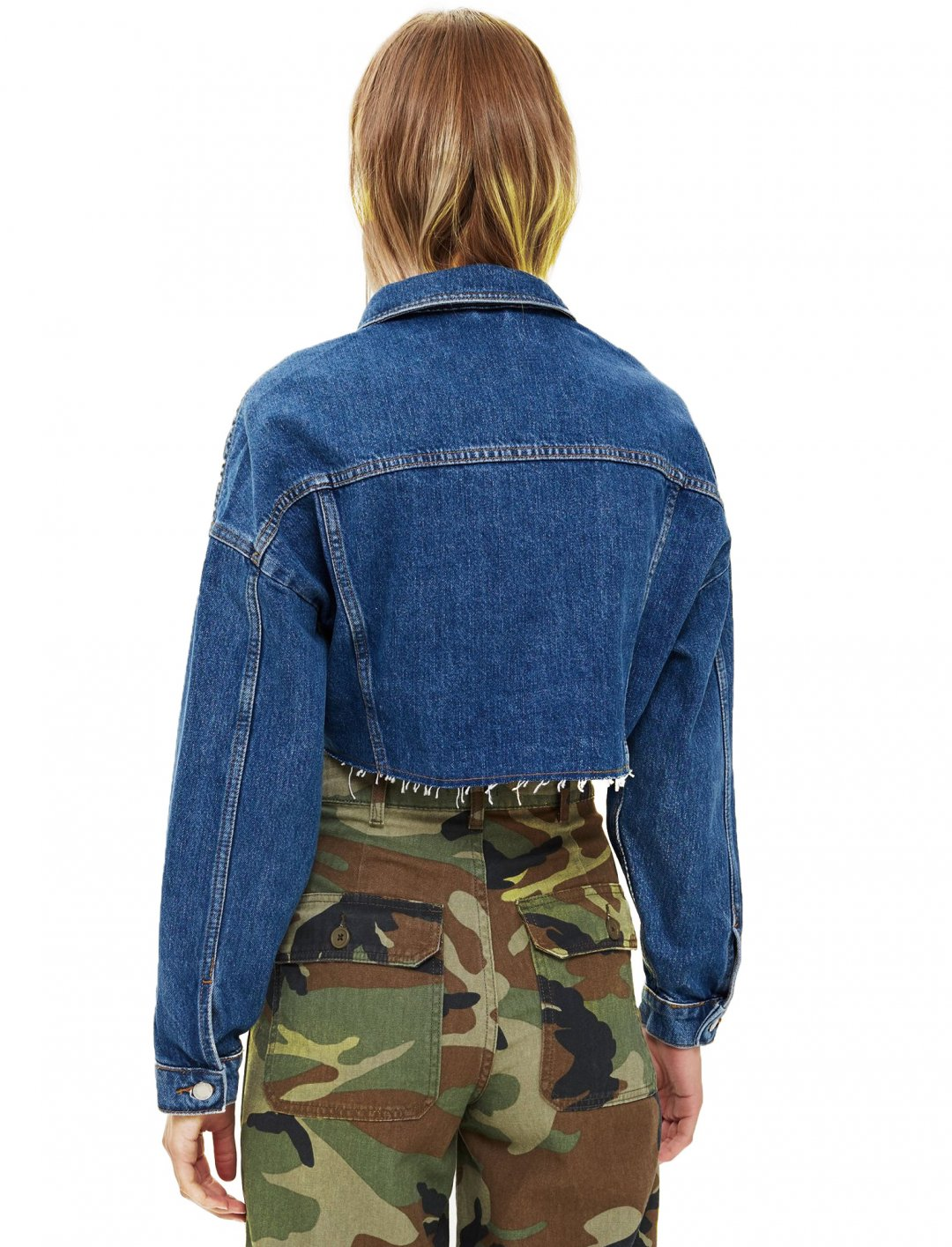 "Hacked Denim Jacket {""id"":5,""product_section_id"":1,""name"":""Clothing"",""order"":5} Topshop"