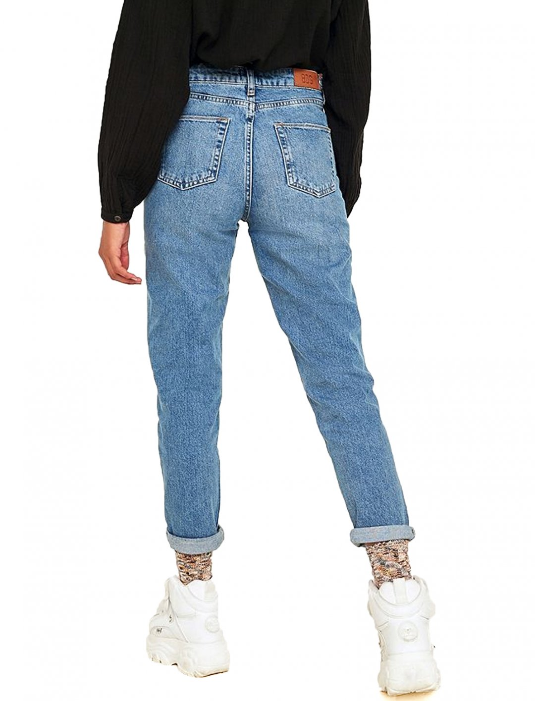 "Mom Indigo Wash Jeans {""id"":5,""product_section_id"":1,""name"":""Clothing"",""order"":5} BDG"